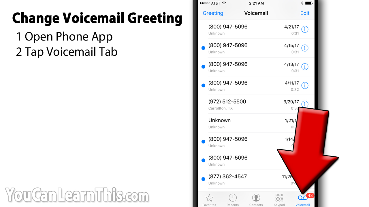 Change Iphone Voicemail Greeting
