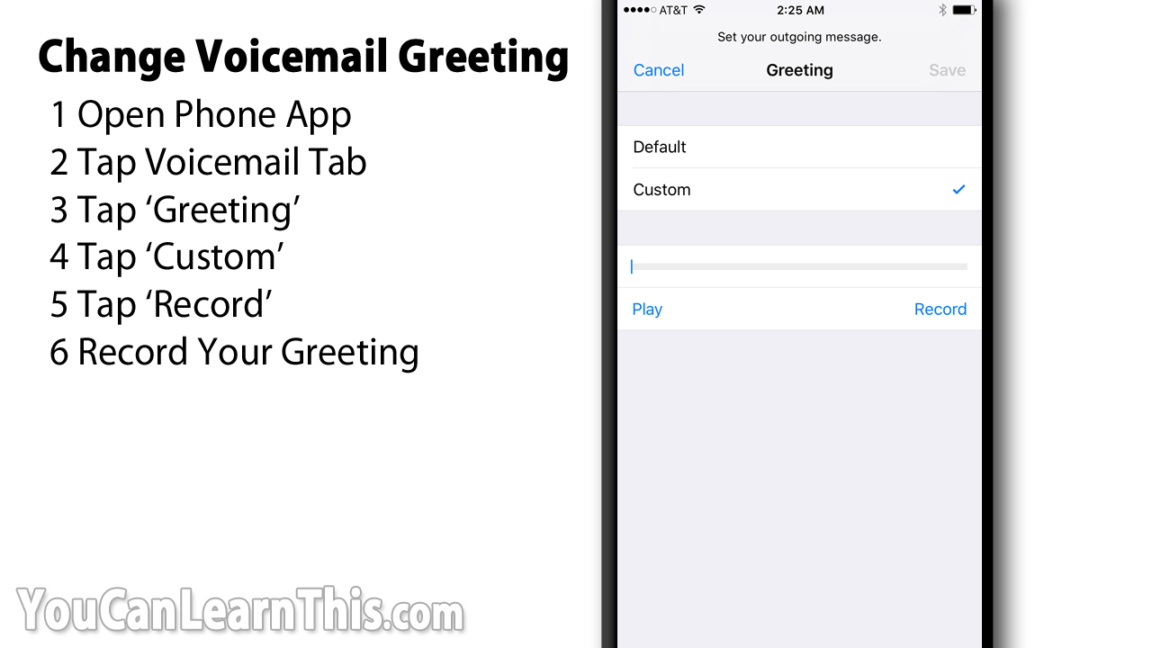 Change iphone voicemail greeting to record your personal voicemail greeting on your iphone m4hsunfo