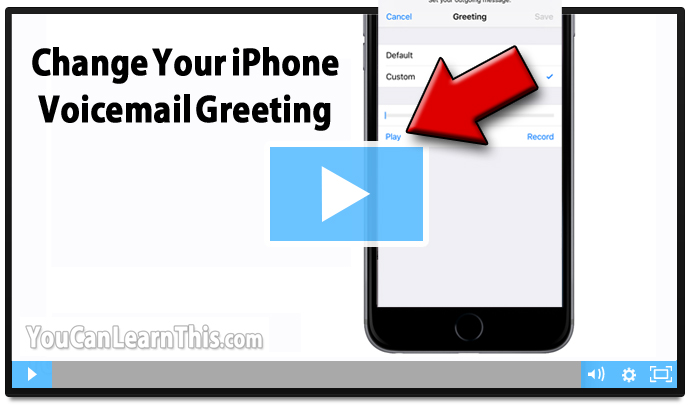 Change iphone voicemail greeting m4hsunfo Choice Image